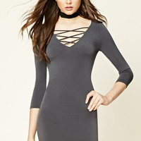 Strappy Crisscross-Front Dress