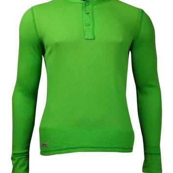 Polo Ralph Lauren Men's Solid Thermal Long Sleeves Shirt (XL, Green)