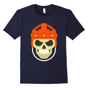 Human Skull With A Rugby Sports Cap T-Shirt