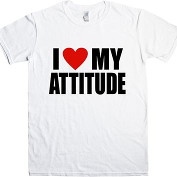 Mens T Shirt - I Love My Attitude T Shirt - 8Ball Originals Tees
