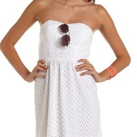 Bow-Back Crochet Tube Dress: Charlotte Russe