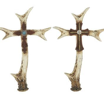 Stunning Antler Cross Assortment of 2