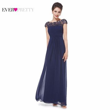 Evening Dress Elegant Cap Sleeves Ever Pretty Weddings Events Summer Lace EP09993 Chiffon Long New Arrival 2017 Evening Dresses
