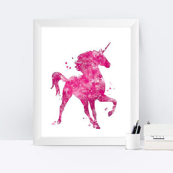 Unicorn Print Unicorn watercolor Wall Art Printable Kids Room Unicorn Art Print Painting Watercolor Download Nursery Decor