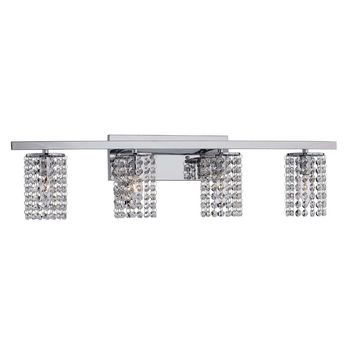 Round Shade Chrome and Crystal Wall Sconce | Overstock.com Shopping - The Best Deals on Sconces & Vanities