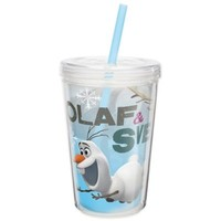 Zak! Designs® Disney® Frozen Olaf 13-Ounce Double Wall Tumbler with Straw