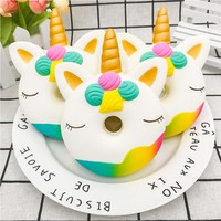 New Unicorn Doughnut Cream Scented Squishy Slow Rising Squeeze anti stress soft toy funny gadgets kawaii squishies oyuncak donut