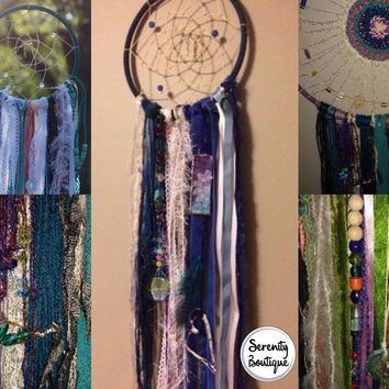 Custom Dream Catcher With Soldered Charms and Beads Plus Extra Mojo - Bohemian Spirit Dreamcatcher
