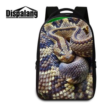 Cool Backpack school Dispalang Animal Snake Backpack for Teenager Guy Laptop Bookbags for Boys Computer Back Pack Girly Rucksack Cool Mochilas Women AT_52_3
