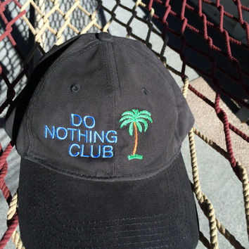Do Nothing Club-Black Flopy-(President w/ Palm Tree on the back)