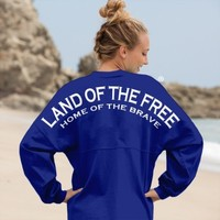 Land of the Free, Home of the Brave - Classic Crew Neck Spirit Jersey®