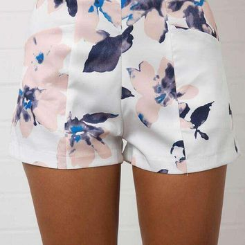 Womens Fashionable Print Floral Shorts