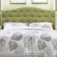 Alipaz Contemporary Full Queen Headboard, Green