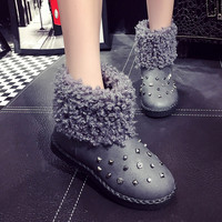 Shoes Women Black Brand Designer Luxury Ladies Leisure Hot Sale 2016 For Womens Flat Snow Red New Fashion Boots Australia Warm