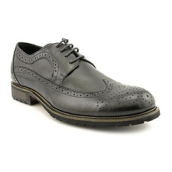 Steve Madden Mens Black P-Rex Leather Casual Shoes Size 10.5