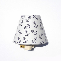 Anchor Night Light / Baby Girl Boy Gebder Neutral Nursery Decor / Navy Blue and White / Dear Stella Sea Worthy Anchors