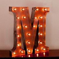 "24"" Letter M Lighted Vintage Marquee Letters with Screw-on Sockets"