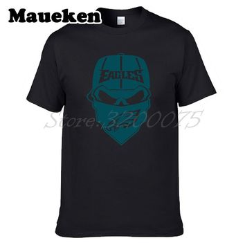 Men T-shirt Skull File eagles Cricut Cameo Silhouette 2018 Champions T Shirt Men's tshirt for philadelphia fans tee W18012809