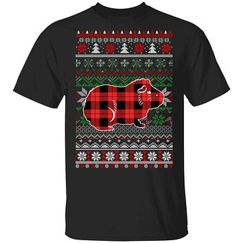Guinea Pig Red Plaid Ugly Christmas Sweater Funny Gifts