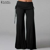 Flared Wide Leg Casual Loose Trousers Layers
