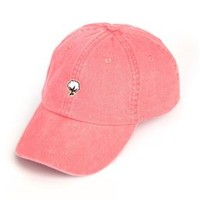 Southern Shirt Company Embroidered Cotton Logo Hat in Coral