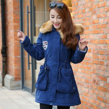 ac DCK83Q Cotton Women's Fashion Slim Plus Size Jacket [9133915724]