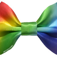 Rainbow Ombre Hair Bow