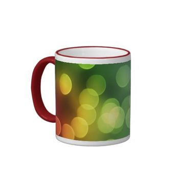 Rainbow Colors Bokeh Balls Coffee Mug