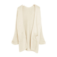 Apricot Oversized Knit Cardigan