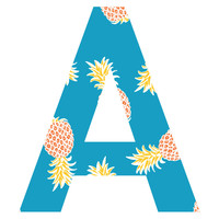 Pineapple Patterned Letter Wall Decal