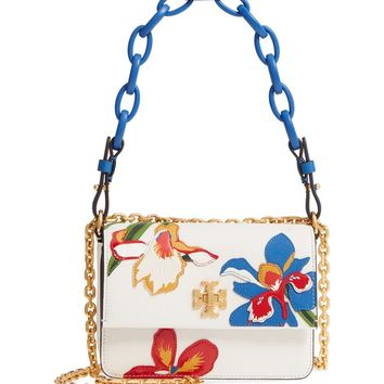 Tory Burch Mini Kira Floral Double Strap Leather Bag | Nordstrom
