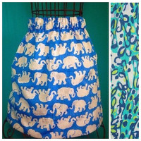 Women's Custom Lilly Pulitzer Sea Blue Its A Stretch Skirt Fall 2015