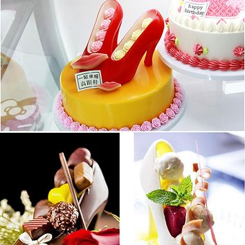 DIY 3D High Heel Shoes Candy Chocolate Mold Fondant Cake Decorating Tools for Home Baking Sugarcraft Accessories