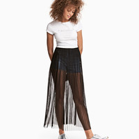 Pleated Mesh Skirt - from H&M