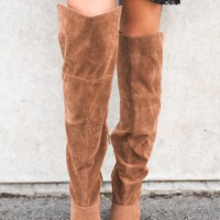 Joplin Knee High Boots (Camel)