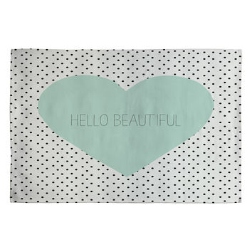 Allyson Johnson Hello Beautiful Heart Woven Rug