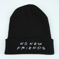 The Friends Beanie in Black