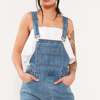 BDG Essential Denim Shortall Overall - Indigo | Urban Outfitters