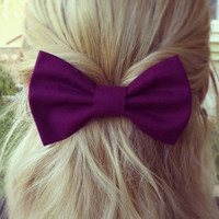BIG Purple hair bow by colordrop on Etsy