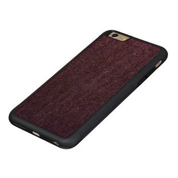 Cool Awesome Purple Glitter Carved® Cherry iPhone 6 Plus Bumper