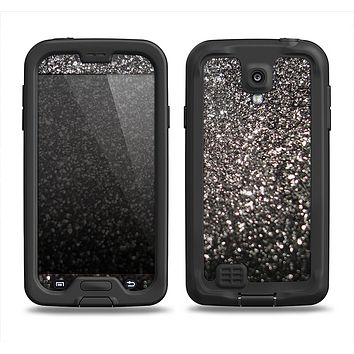 The Black Unfocused Sparkle Samsung Galaxy S4 LifeProof Fre Case Skin Set