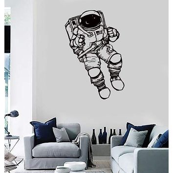 Wall Stickers Vinyl Decal Spaceman Astronaut Space Universe Living Room Unique Gift (z2169)