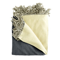 Bonnie Gray/Yellow Throw