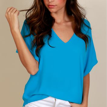 Beautiful Business Classic Blouse Vivid Blue