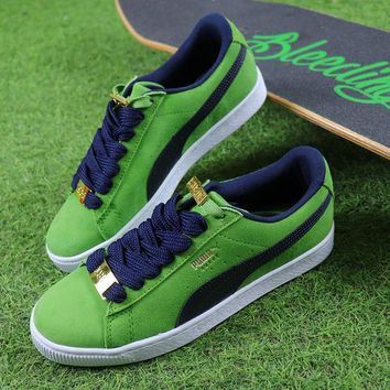 Puma Suede Classic BBOY Fabulous 50th Green White Black Shoes - Sale