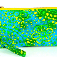 Summer Spritzer Wristlets, Cell phone wallet, small purse, Iphone 6 wrislet, small clutch