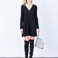 V-Neck Tunic Dress