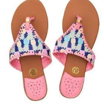 "Simply Southern ""Multi Pineapple"" Sandals"
