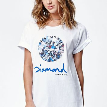 Diamond Supply Co Brilliant Crew Neck T-Shirt - Womens Tee - White