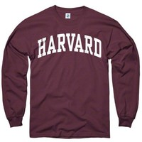 Harvard Crimson Maroon Arch Long Sleeve T-Shirt